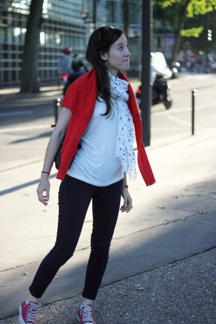 converse rouge look