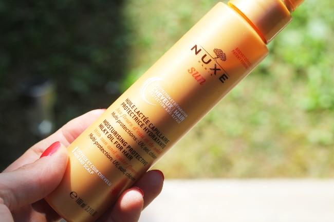nuxe sun huile lactée capillaire