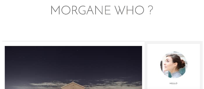 morgane who blog green