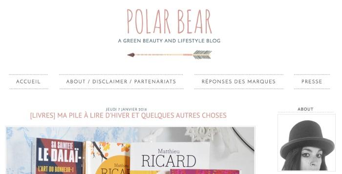 polar bear blog green