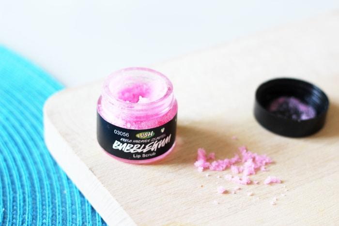 lush bubble gum gommage pour les lèvres
