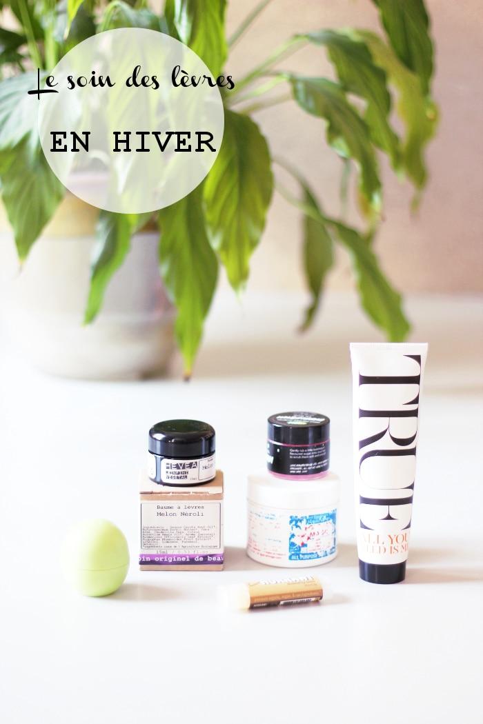 soin des lèvres en hiver naturellement : hevea, egyptian magic, eos, lush...