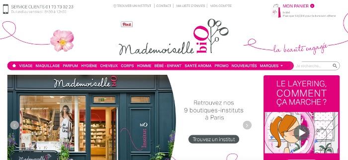 e-shops beauté bio préférés mademoiselle bio