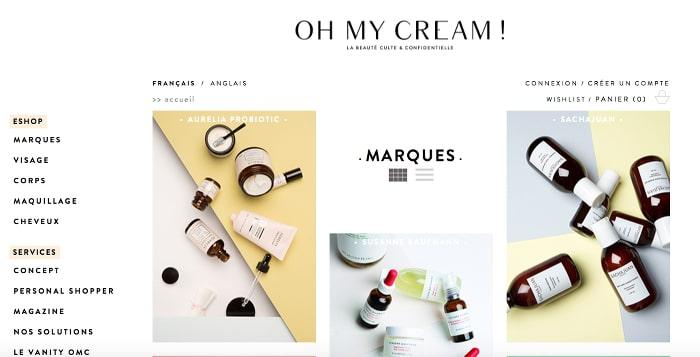 e-shops beauté bio préférés oh my cream