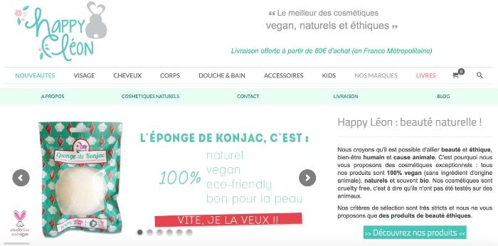 e-shops beauté bio préférés happy leon