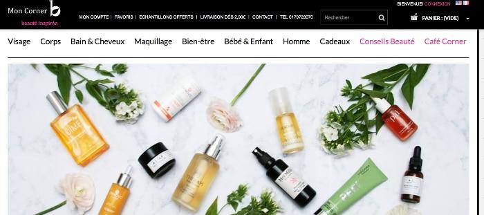 e-shops beauté bio préférés mon corner b