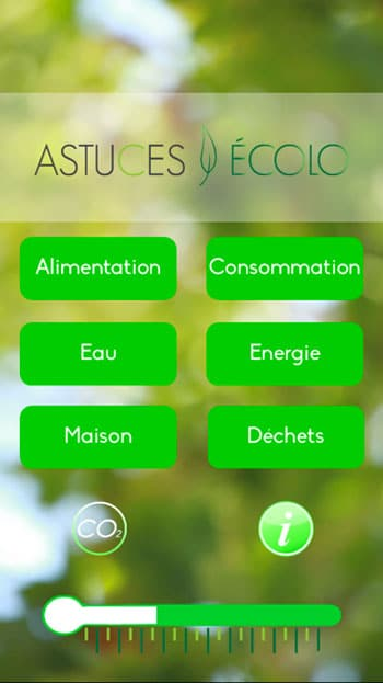 applications écolos : astuces écolo