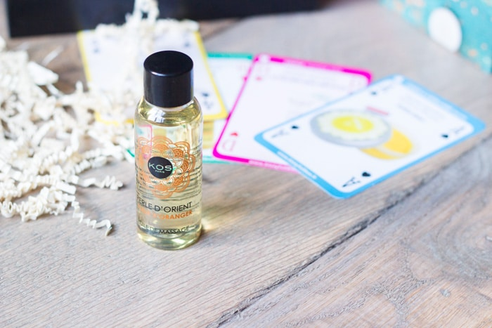 biotyxull box de novembre huile de massage kos paris