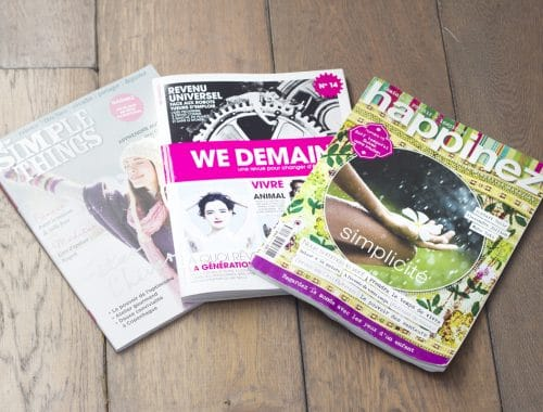lectures green et inspirantes : we demain, simple things et happinez