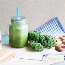 Goûter autour du moringa : financiers aux framboises et green smoothie
