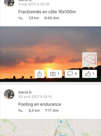 application sport strava