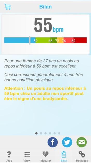 applications pour sportifs : heart beat cardiofréquencemètre