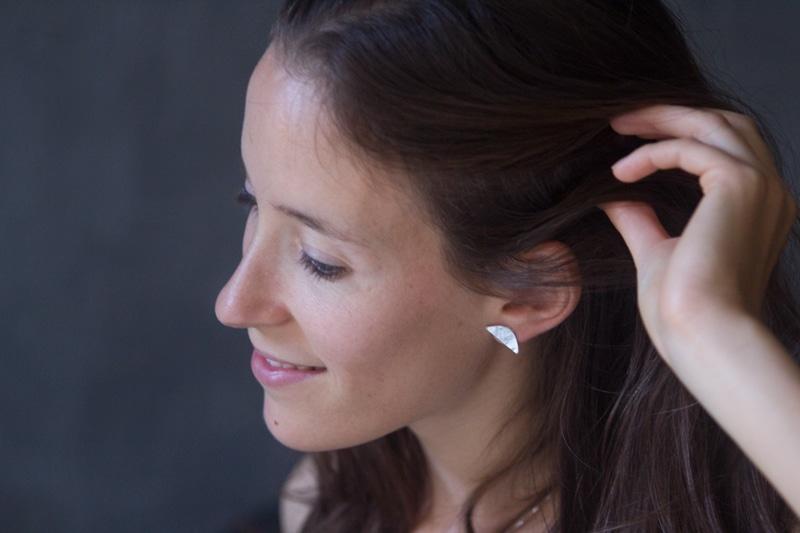 boucles d'oreille WWoW en pinatex