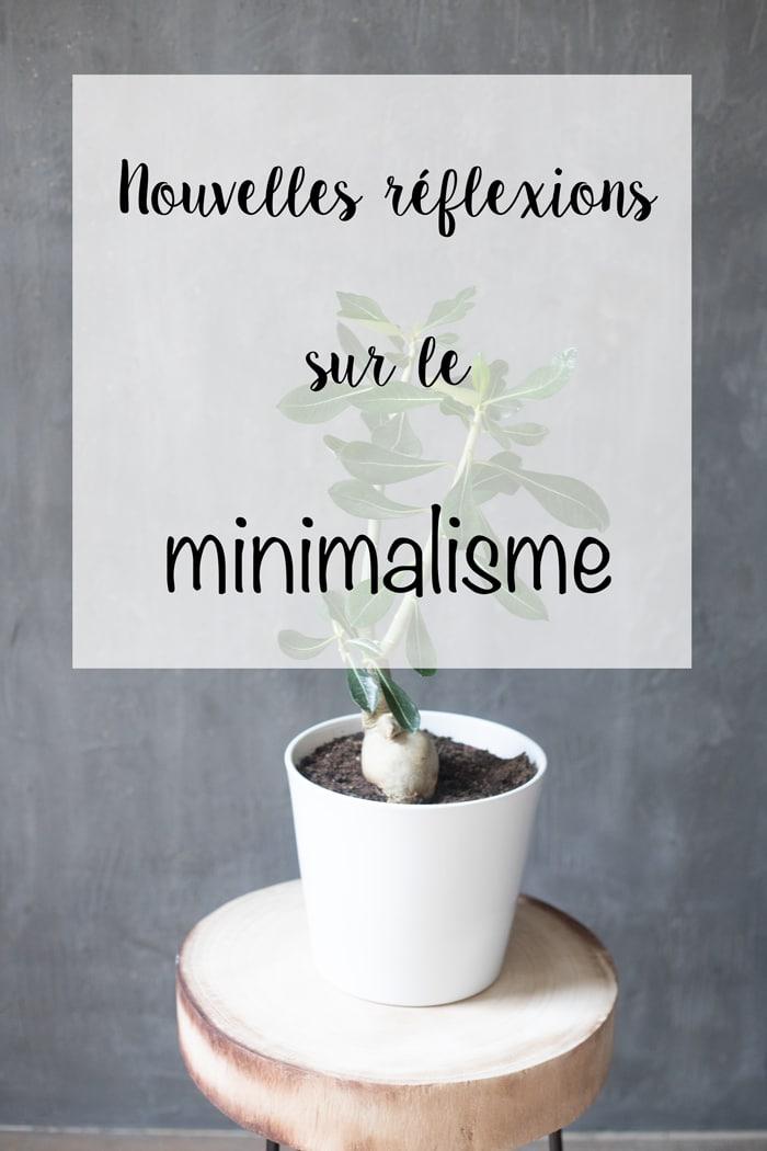 nouvelles réflexions sur le minimalisme