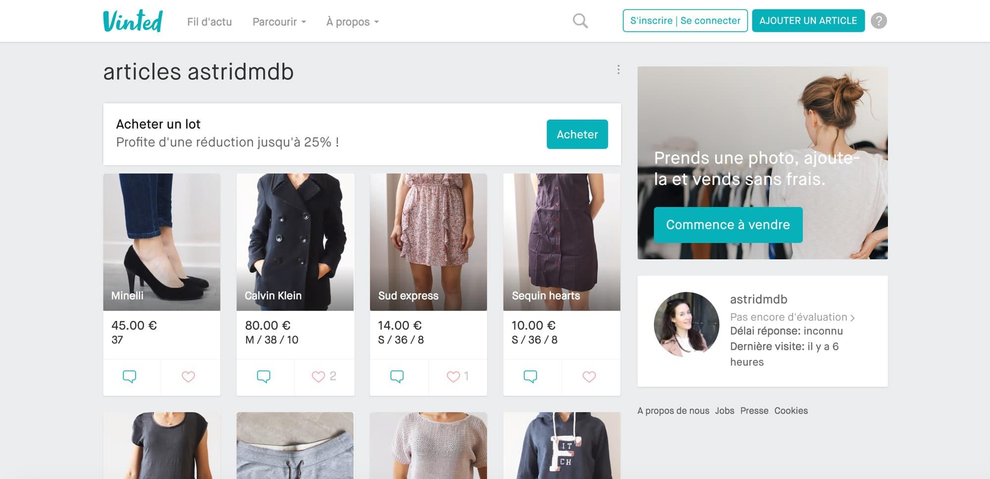 vinted : achat de vêtements d'occasion et mode éthique
