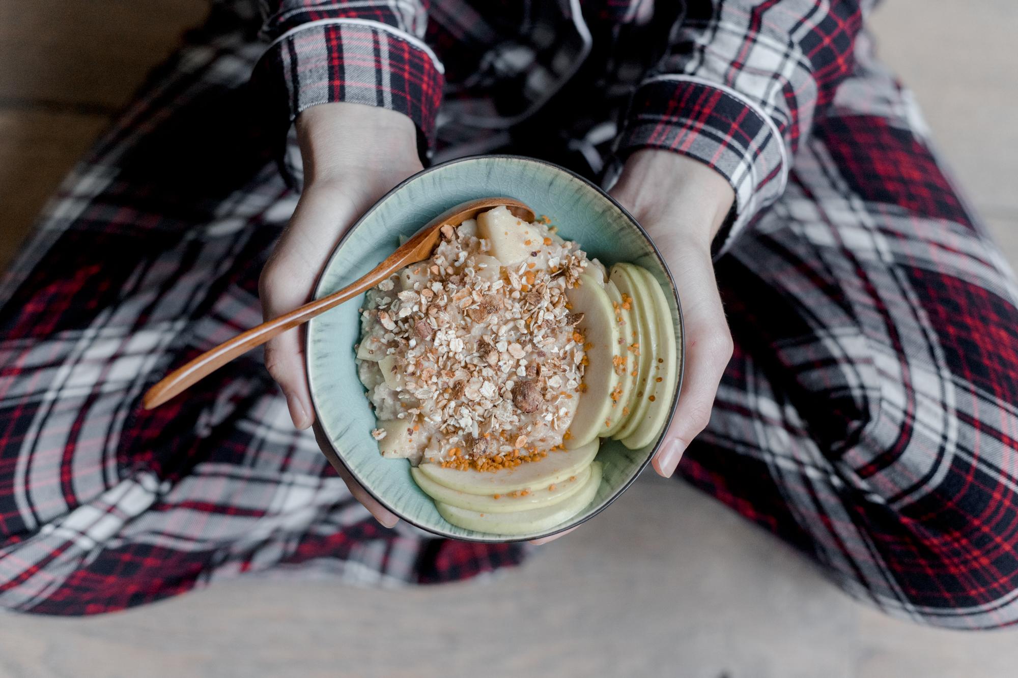 recette porridge pomme cannelle