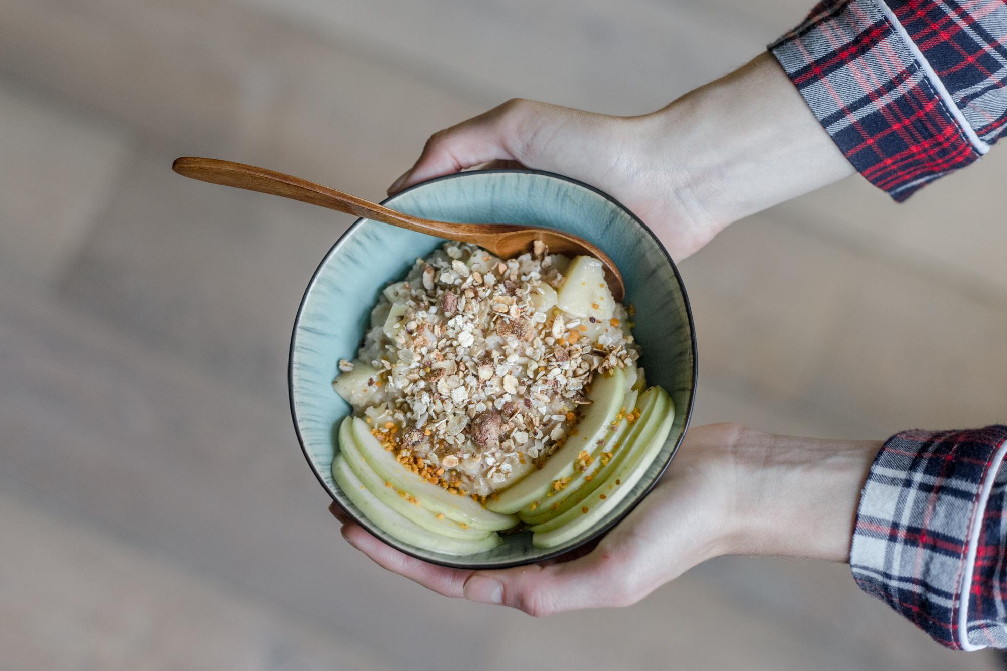 porridge pomme cannelle vegan